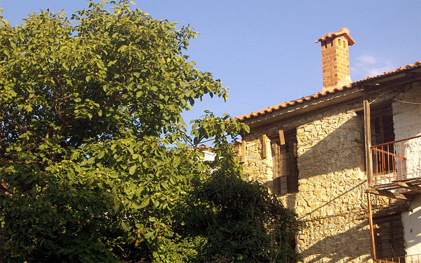 Stone-built house in the village